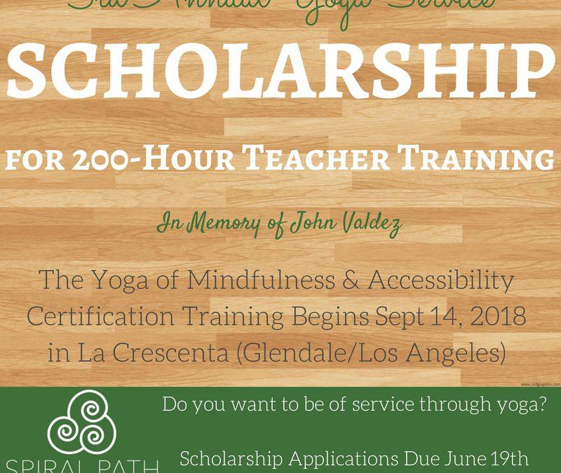 2018 Yoga Service Scholarship!